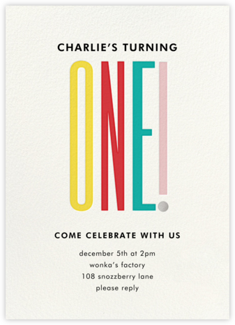 A Tall One - kate spade new york - First Birthday Invitations