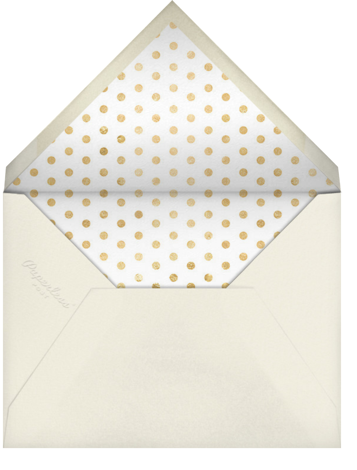 Miss Out - Antique Rose - kate spade new york - Bridal shower - envelope back