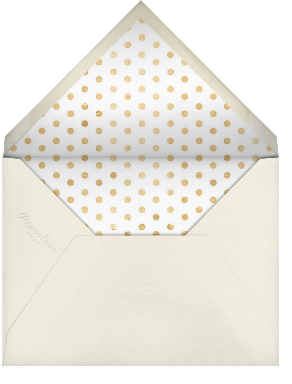 Miss Out - Celadon - kate spade new york - Bridal shower - envelope back