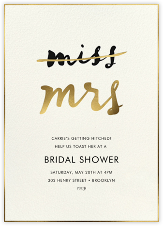 Miss Out - Cream - kate spade new york - Bridal shower invitations