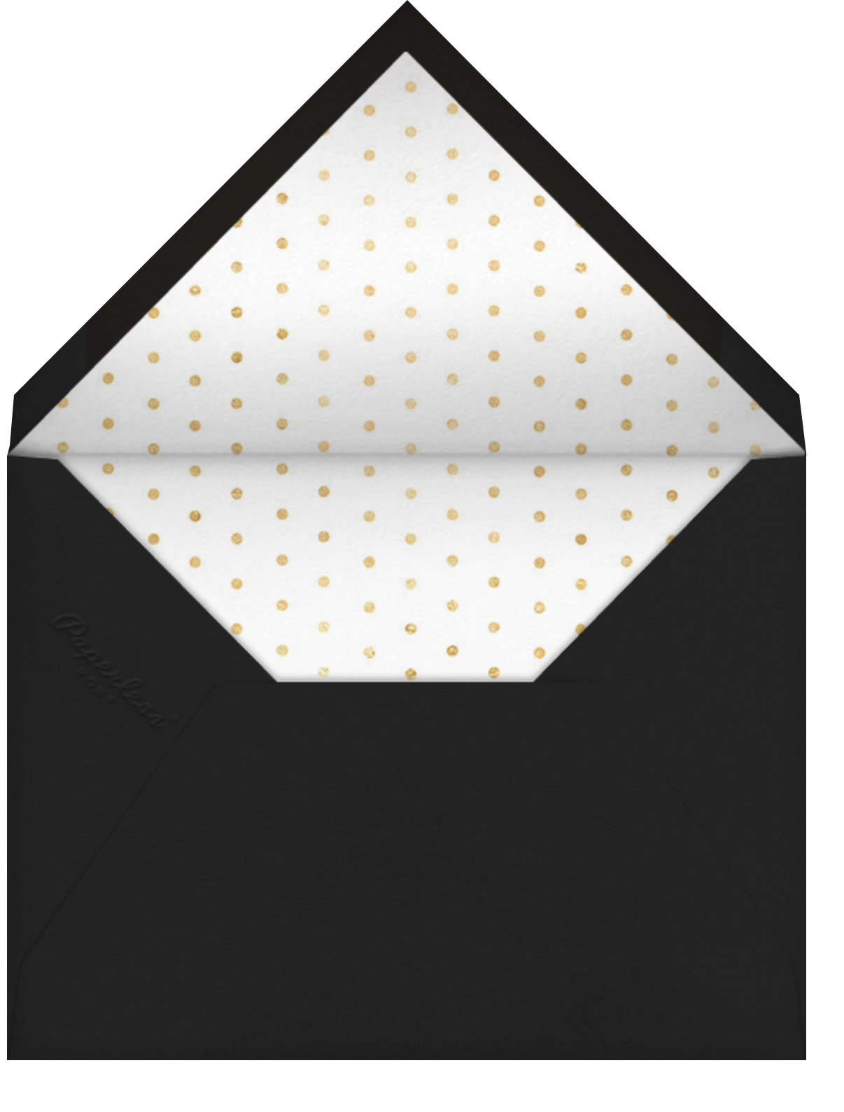 Tossed Cocktails - kate spade new york - New Year's Eve - envelope back