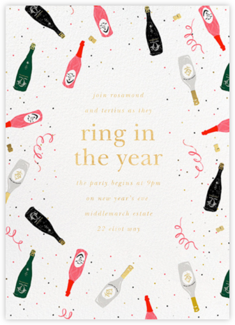 Tossed Cocktails - kate spade new york - New Year's Eve Invitations