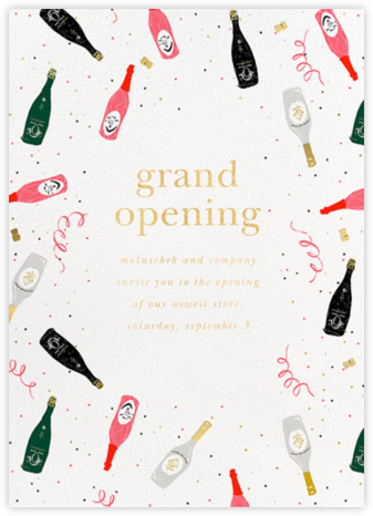 Tossed Cocktails - kate spade new york - Launch Party Invitations