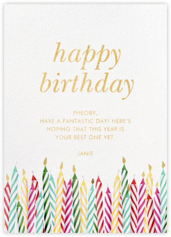 Candle Corner - kate spade new york - Online Greeting Cards