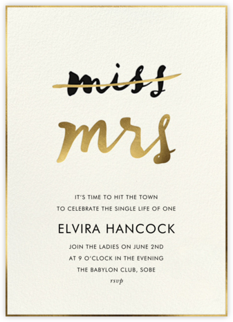 Miss Out - Cream - kate spade new york - Bachelorette Party Invitations
