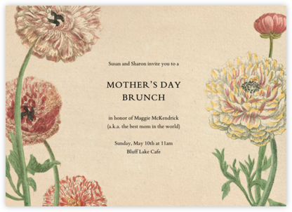 Wild Ranunculus - John Derian - Online Mother's Day invitations