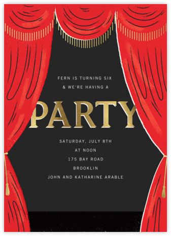 Curtain Call - Paperless Post - Birthday invitations