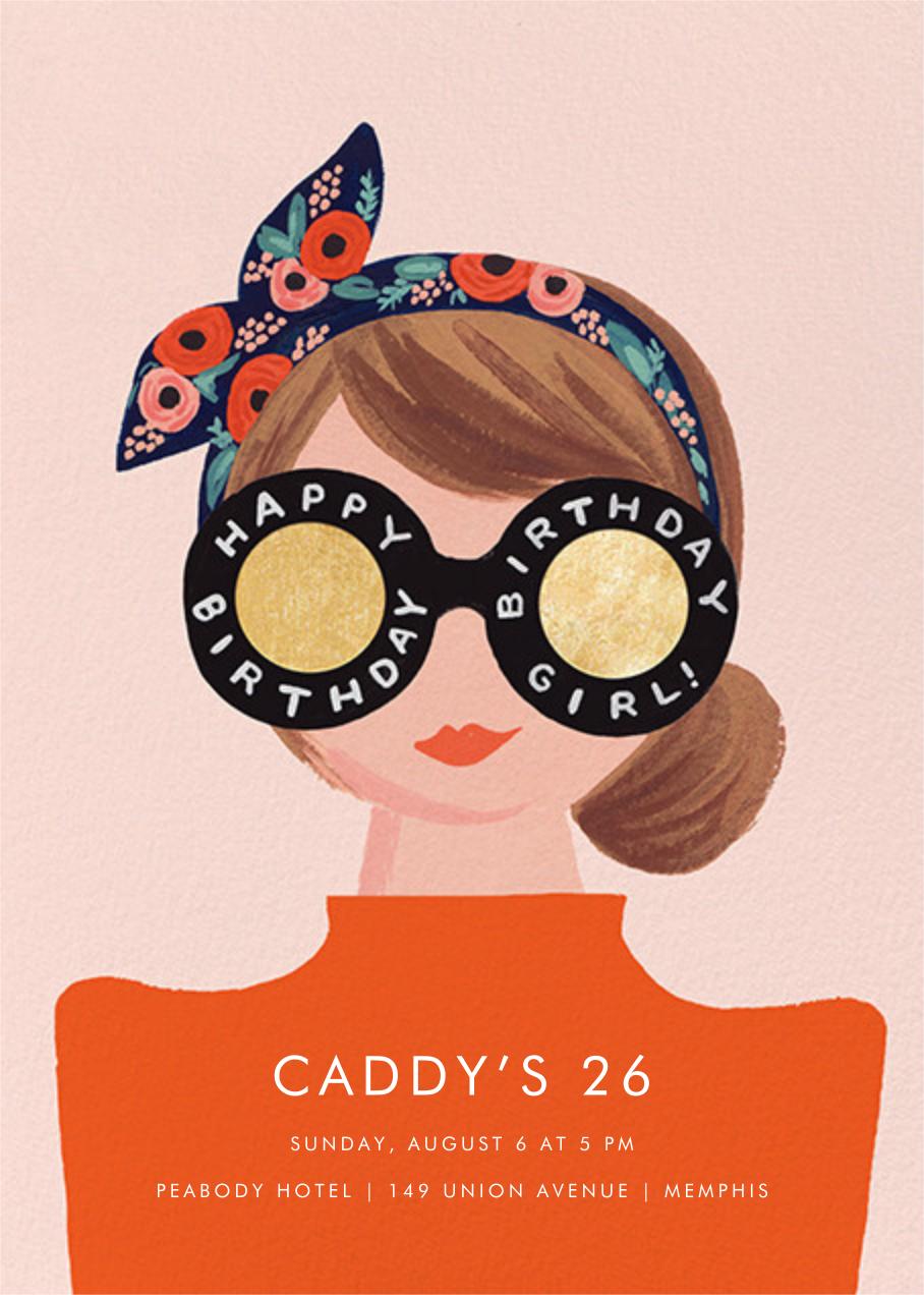 Birthday Shades - Rifle Paper Co. - Adult birthday invitations