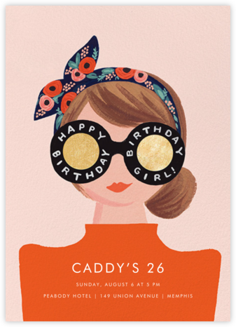 Birthday Shades - Fair - Rifle Paper Co. - Adult Birthday Invitations