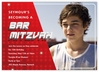 Mitzvah Replay - Bar - Paperless Post - Birthday invitations
