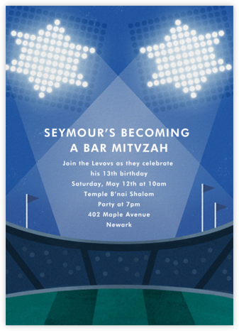 Swing and a Mitz - Paperless Post - Bat and Bar Mitzvah Invitations