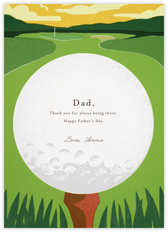 Tee Time - Paperless Post - Father's Day cards