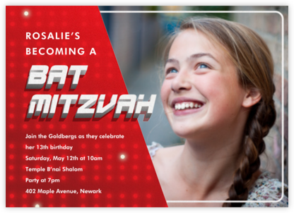 Mitzvah Replay - Bat - Paperless Post -