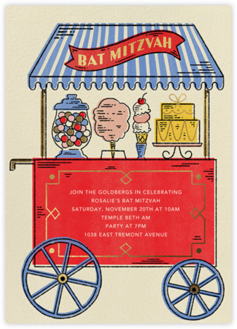 Mitz a Sweet One - Bat - Paperless Post - Invitations