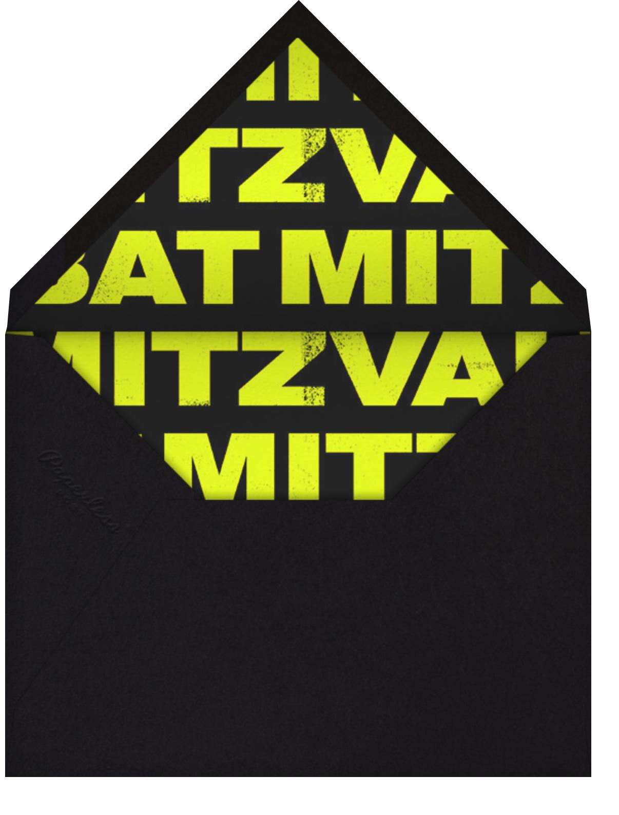 Mitzvah Poster - Bat - Paperless Post - Bar and bat mitzvah - envelope back