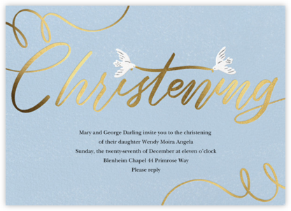 Cursive Christening - Paperless Post - Online Party Invitations