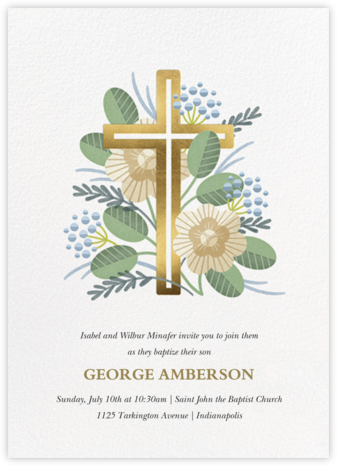 Palm Sunday - Paperless Post - Baptism invitations