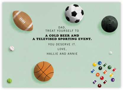Sports Balls - Paperless Post - Father's Day Cards