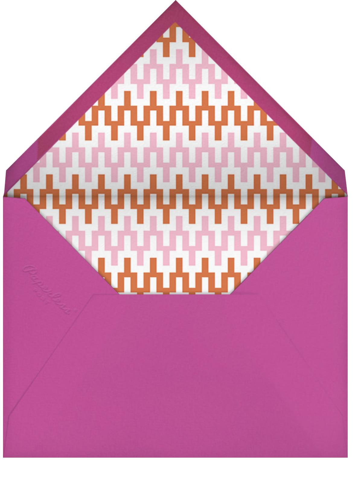 Positano - Pink - Jonathan Adler - Cocktail party - envelope back