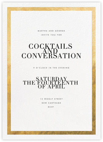 Editorial II - White/Gold  - Paperless Post - Dinner Party Invitations