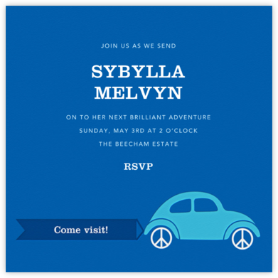 Bug-a-Lug - Blue - Jonathan Adler - Farewell party invitations