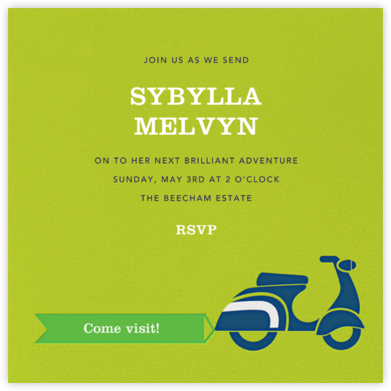 Scoot-a-Toot - Green - Jonathan Adler - Farewell party invitations