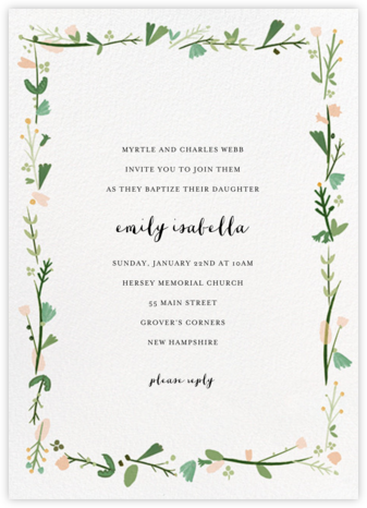 Miss Potter - Mr. Boddington's Studio - Baptism invitations