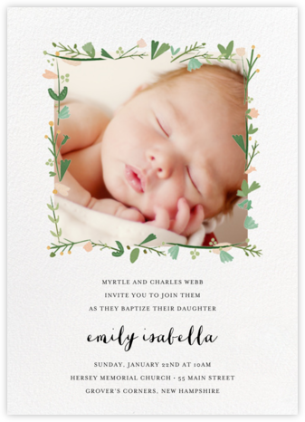 Miss Potter Photo - Mr. Boddington's Studio - Christening Invitations