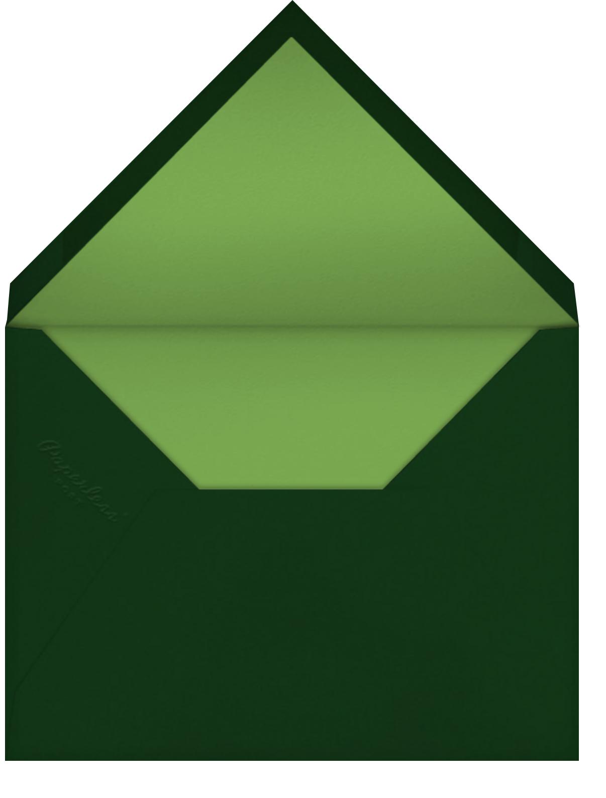 Fern II - Green - Paperless Post - Baptism  - envelope back