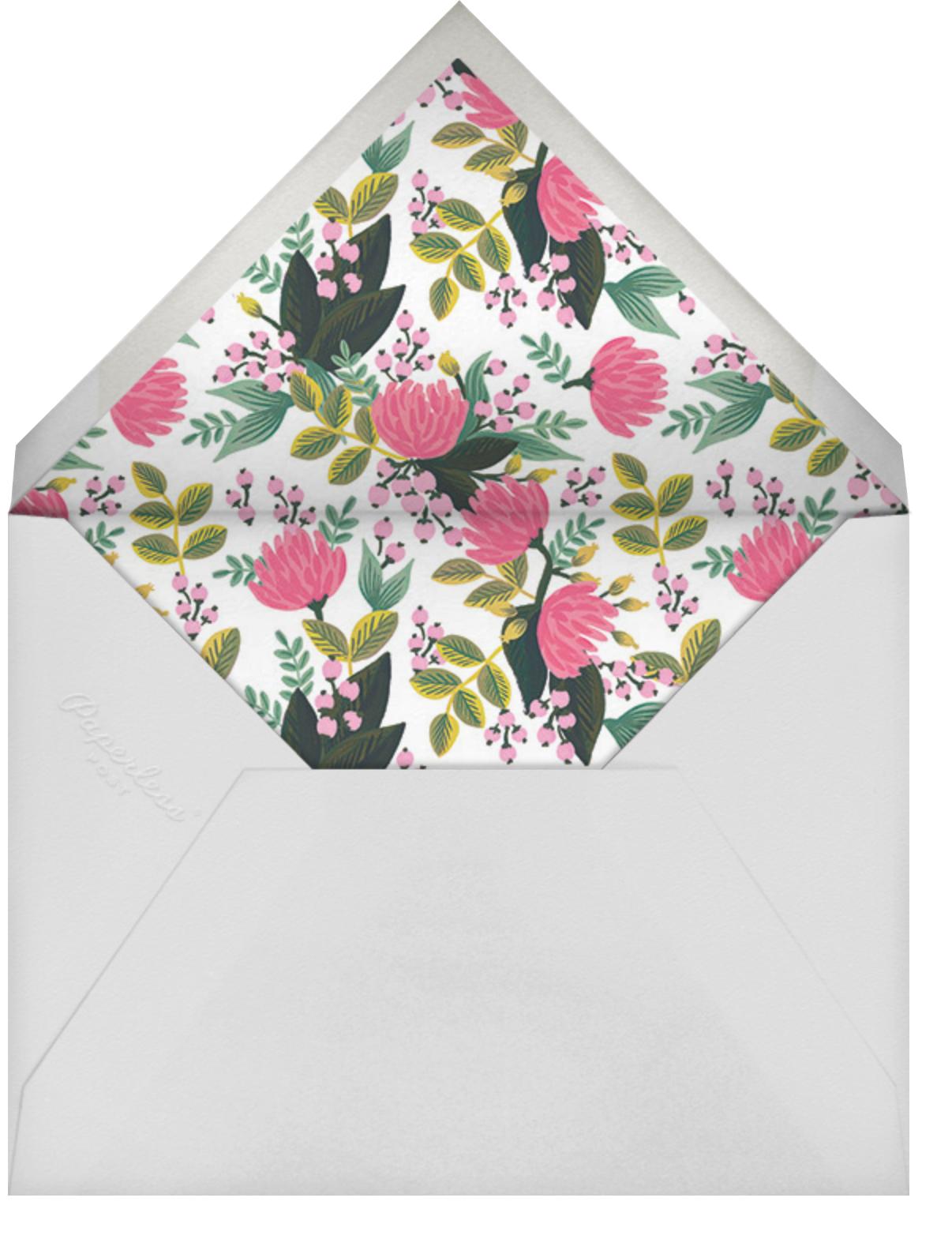 Saigon Blooms (Photo) - Meringue - Rifle Paper Co. - Baptism  - envelope back