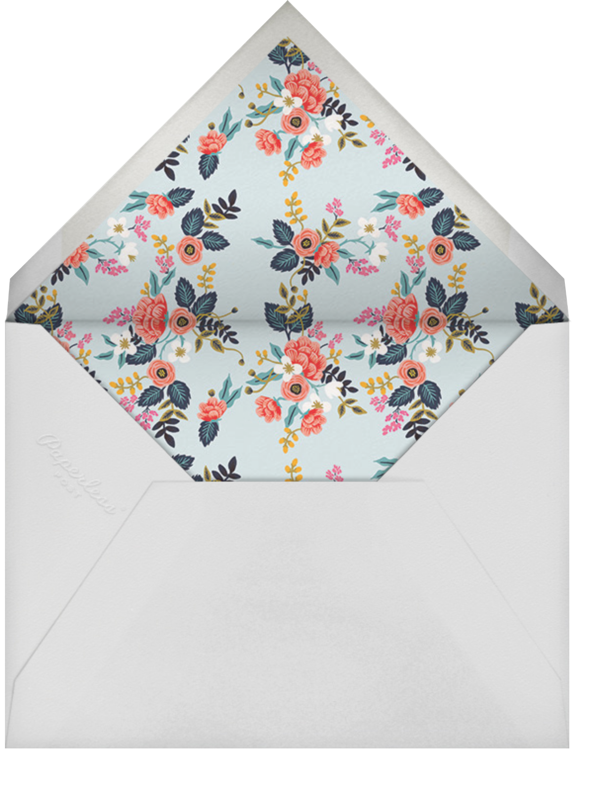 Birch Monarch (Frame) - White  - Rifle Paper Co. - Cocktail party - envelope back