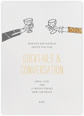 Meet Me at Midnight - Charcoal  - Mr. Boddington's Studio - Cocktail party invitations