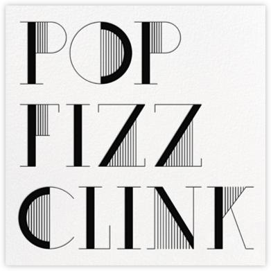 Pop Fizz Clink (Square) - White/Black  - kate spade new york -