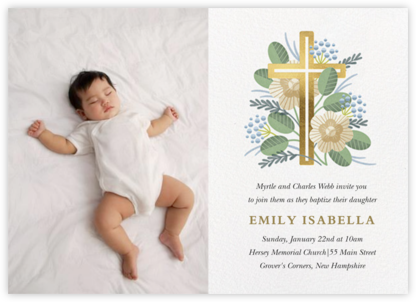 Palm Sunday Photo - Paperless Post - Baptism invitations
