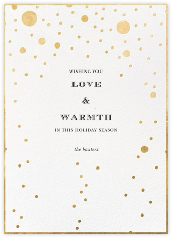 Champagne Bubbles (Single-Sided) - kate spade new york - Holiday Cards