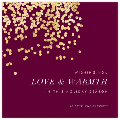 Bijou - Merlot - Kelly Wearstler - Holiday cards