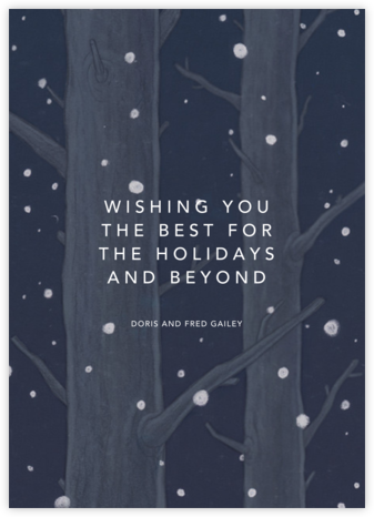 On a Snowy Evening  - Paperless Post - Holiday Cards