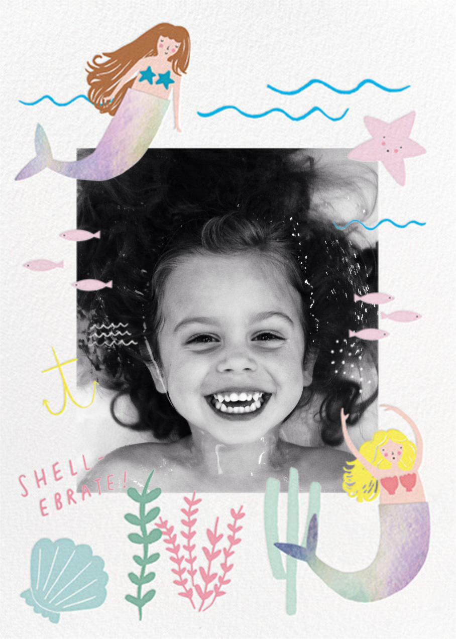 Mermaids in Waiting Photo - Meringue - Meri Meri - Kids' birthday invitations