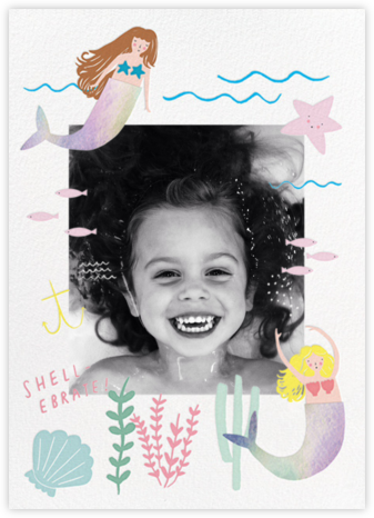Mermaids in Waiting Photo - Meringue - Meri Meri - Kids' birthday invitations