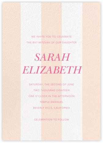 Bengal Stripe - Meringue - Sugar Paper - Bar and Bat Mitzvah Invitations