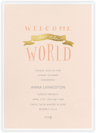 Banner Welcome - Meringue - Sugar Paper - Baby shower invitations