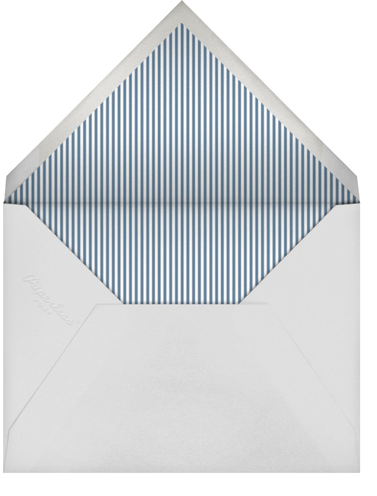 Gilt Ticket - Sugar Paper - Bridal shower - envelope back