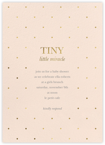 Little Miracle - Meringue - Sugar Paper - Baby Shower Invitations