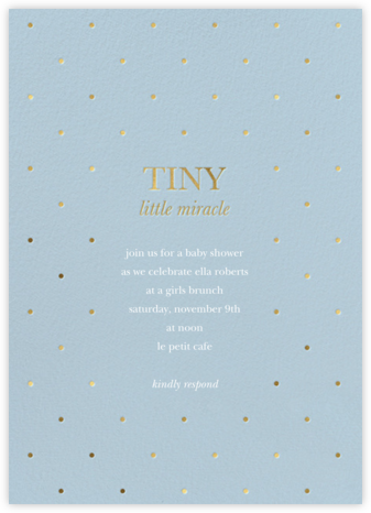 Little Miracle - Spring Rain - Sugar Paper - Sugar Paper Invitations