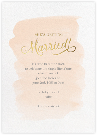 Marvelously Married - Sugar Paper - Bachelorette party invitations