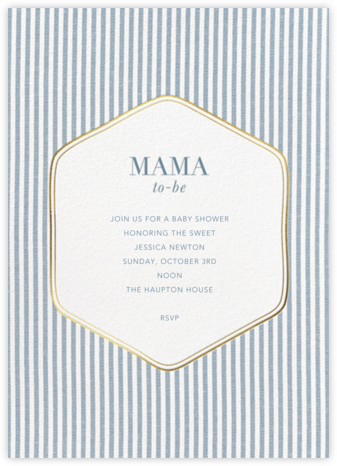 Seersucker Scrim - Blue - Sugar Paper - Baby Shower Invitations