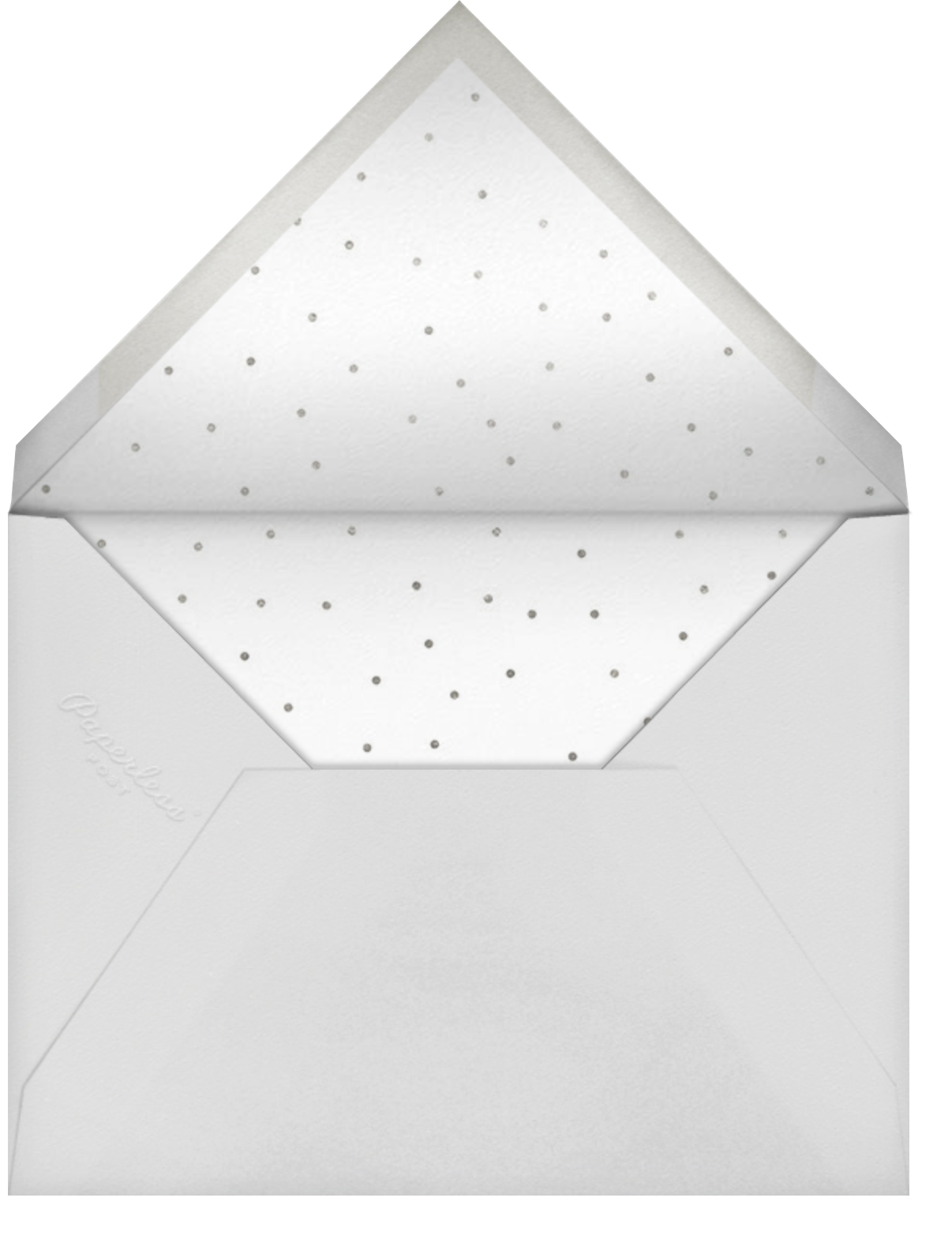 Bengal Stripe - Gray - Sugar Paper - Baby shower - envelope back