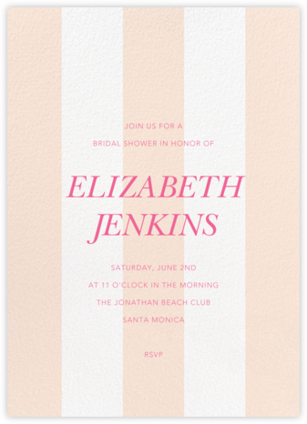 Bengal Stripe - Meringue - Sugar Paper - Bridal shower invitations