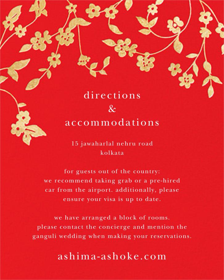 Floral Trellis II - Red/Gold - Oscar de la Renta - All - insert front