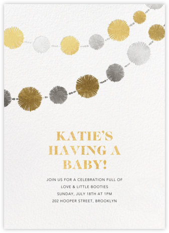 Pom Bunting  - Paperless Post - Baby shower invitations